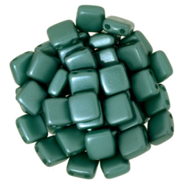 CzechMates Tiles Pearl Coat - Teal (per 10)