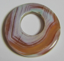 Donut Agaat Streep Zalm Mint A058 (per stuk)