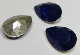 Resin Drop 13 x 18 mm Dark Indigo Opal (per 1)