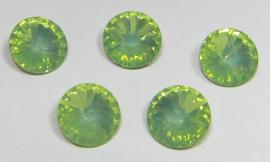 Resin Rivoli 8 mm SS39 Chrysolite Green Opal (per 5)