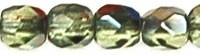 Facet 3 mm Bronze Iris Light Olivine (per 75)