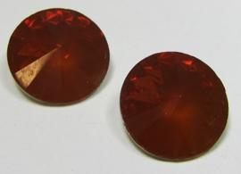 Resin Rivoli 14 mm Rust Orange Opal (per 2)