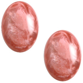 Polaris Cabochon Oval 13 x 18 mm Jais Antique Pink (per 1)