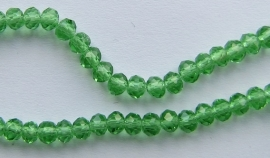 Faceted Rondelles 3 x 4 mm Green F500 (per 147 beads)