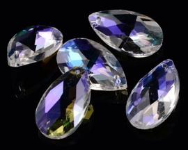 Glas Druppel Hanger 16 mm Crystal Rainbow (per stuk)