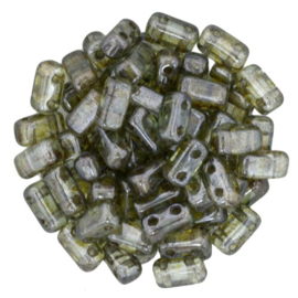 CzechMates Bricks Luster - Transparent Green (per 30)