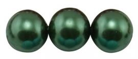 Glass Pearls Dark Green 3 mm B59 (65 cm strand)