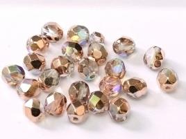Facet 3 mm Crystal Copper Rainbow (per 75)