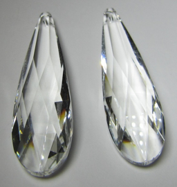 Glass Drop 75 x 21 mm Crystal (per 1)