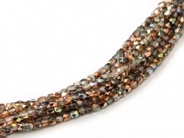 Facet 2 mm Crystal Copper Rainbow (per 150)
