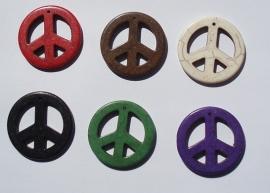 Pendant Howlite Peace Mix G239 (per 2)