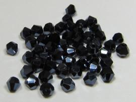 Glas Bicones 4 mm Hematite (per 50)
