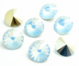 Resin Rivoli 16 mm Very Light Grey Opal (per 2)