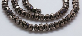 Faceted Rondelles 2 x 3 mm Dark Bronze Plated F925 (per 148 beads)