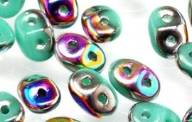 Superduo Bead Vitral - Green Turquoise (10 g.)