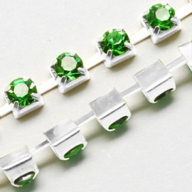 Cup Chain SS8 2,5 mm Light Peridot (meter)