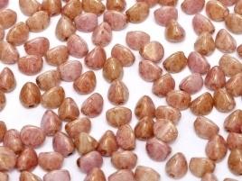 Pinch Beads 5 x 3 mm Chalk White Gold Luster (per 10 gram)