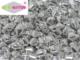 Spiky Button 4,5 x 6,5 mm Crystal Labrador Full (per 25)