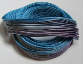 Shibori Silk Teal Medley (per 20 cm)