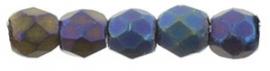 Fire Polished 2,5 mm Matte Iris Blue (per 50)