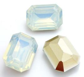 Resin Rechthoek 13 x 18 mm Very Light Grey Opal (per 2)