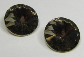 Glass Rivoli 12 mm Bronze Shine Black Diamond (per 2)