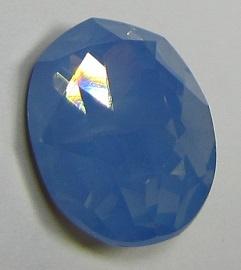 Glass Oval 13 x 18 mm Sapphire Opal (per 1)
