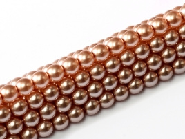 Glass Pearls Antique Pink 6 mm (28 cm strand)