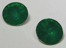 Resin Rivoli 10 mm Light Emerald Opal (per 4)