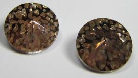 Glass Rivoli 14 mm Crystal Copper Patina (per 1)