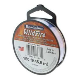 """Beadalon Wildfire Blue (0.008"""") 0,20 mm (per rol van 45 meter)"""