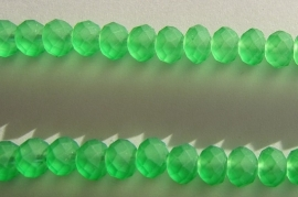 Faceted Rondelles 6 x 8 mm Matted Green F331 (per 70 beads)