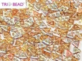 Tri-Bead Crystal Brown Rainbow (5 g.)