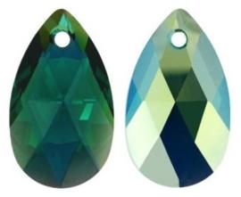 Swarovski Drop 6106 16 mm Emerald AB (per 1)