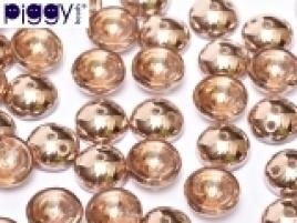 Piggy Beads 4 x 8 mm Crystal Capri Gold (per 18)