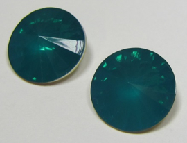 Resin Rivoli 16 mm Blue Zircon Opal (per 2)