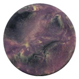 Polaris Cabochon Coin Flat 35 mm Perseo Matt Black Violet (per 1)