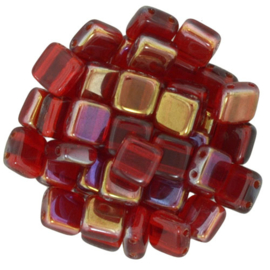 CzechMates Tiles Twilight - Siam Ruby (per 18)