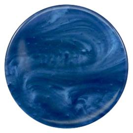 Polaris Cabochon Coin Flat 35 mm Pearl Shine Night Blue (per 1)