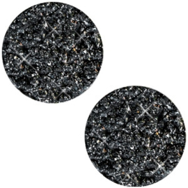Polaris Cabochon Munt Plat 20 mm Goldstein Black (per stuk)