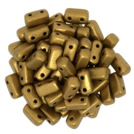 CzechMates Bricks Matte Metallic Goldenrod (per 38)