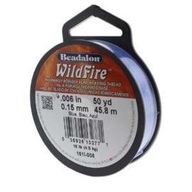 """Beadalon Wildfire Blue (0.006"""") 0,15 mm (per rol van 45 meter)"""