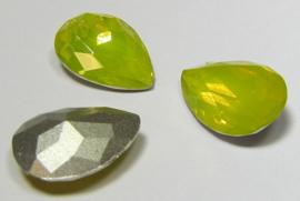 Resin Drop 13 x 18 mm Light Yellow Opal (per 1)