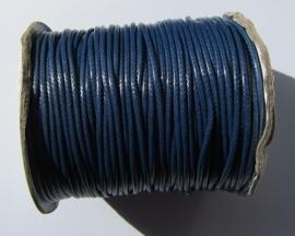 Waxkoord 2 mm Marine Blue W016 (per meter)