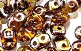 Superduo Bead Copper - Topaz (10 g.)