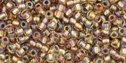 TR-11-268 Inside-Color Rainbow Crystal/Gold Lined (10 g.)