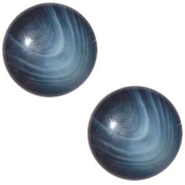 Polaris Cabochon Coin 20 mm Jaquard Midnight Blue (per 1)