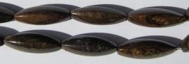 Bronziet Driehoekig Ovaal E2208 (per streng)