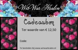 Cadeaubon €12,50 (PDF of Geprint)