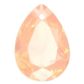 Resin Drop Pendant 18 x 25 mm Light Peach Opal (per 1)